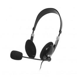 Ακουστικό με μικρόφωνο HVT AHP-301 Black/Silver